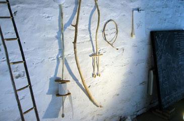 Crwydro Installation - wooden spoons